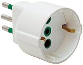 Fanton 82120 Adattatore semplice spina italiana 2P+T 10A a presa italiana/tedesca 2P+T 16A