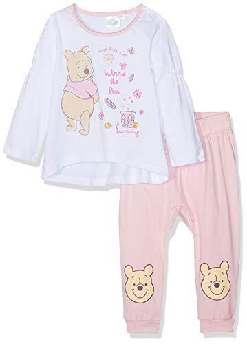 Disney Winnie l'ourson Baby-Mädchen 2133 Bekleidungsset, Weiß Blanc, 18-24 (Herstellergröße: 18 Monate) (Winnie Puuh Kostüm Babys)