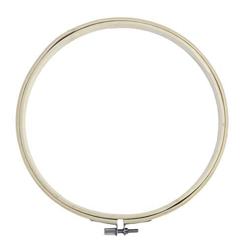 LouiseEvel215 6 Verschiedene Größe runde Form handliche hölzerne Kreuzstich Maschine Stickrahmen Ring Bambus Nähen Werkzeug Zubehör -