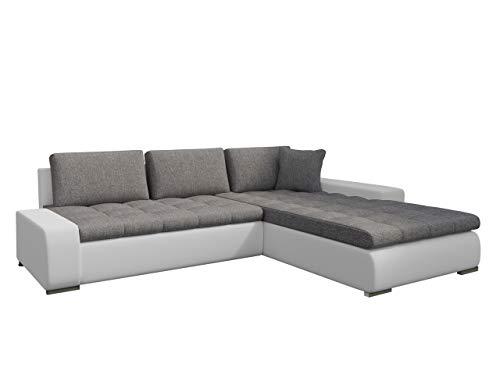 Mirjan24  Eckcouch Ecksofa - Orkan! Elegante Sofa mit Schlaffunktion und Bettfunktion, Bettkasten Couch L-Sofa Große Farbauswahl, Beste Qualität (Ottomane Universal, Soft 017 + Lawa 05) (Großes Microfaser-ottomane)