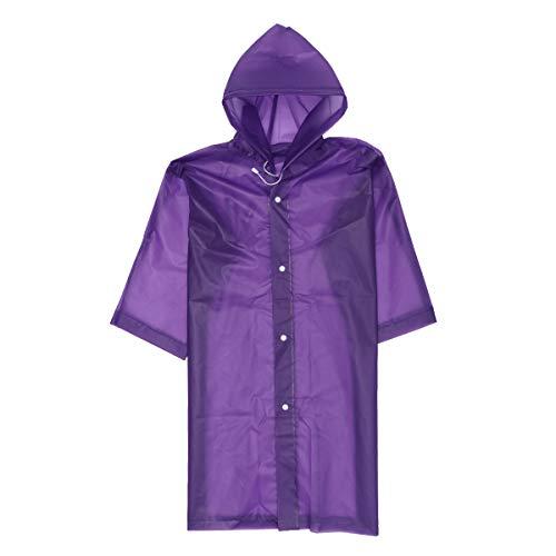 STOBOK Kid Raincoat Simple Thickened Rain Poncho EVA Waterproof Rainsuit Rainwear with Hood for Girls Kids Children (Blue)