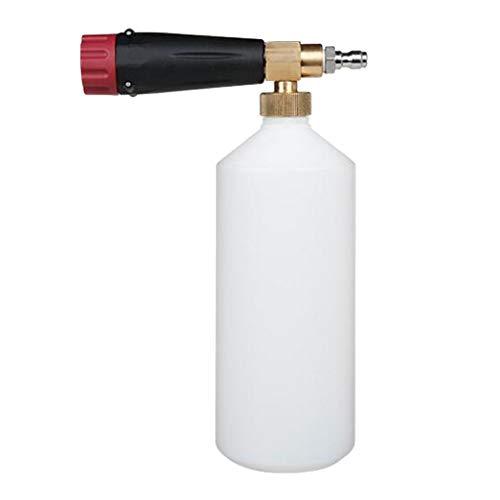 Schneeschaum Lanze Hochdruck Autowaschmittel Seifenpistole 1L Waschflasche - S4 Rot Schwarz