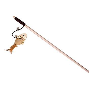 Funny souris avec plume Petit Souris Jouet Funny Jouet pour chat canne en bois avec Bell perle