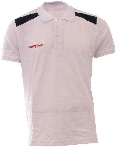 Twentyfour Herren Norge Poloshirt in Norwegen Farben Weiß