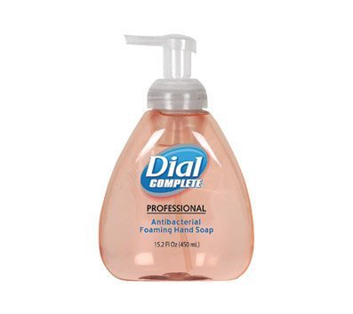 Dial Complete 1437345 Original Professional Healthcare Antimicrobial Foaming Hand Soap with Tabletop Pump, 15.2oz Bottle (Pack of 4) by Dial Professional