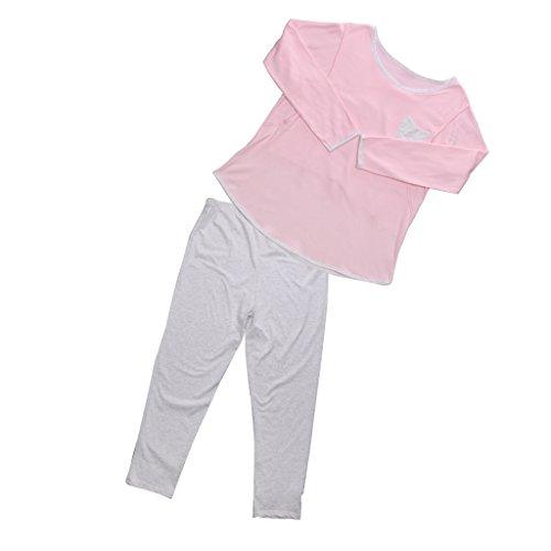 Gazechimp Frauen Mutterschaft Stillen Pflege Pyjamas Nachthemd Loungewear Schlafanzug Nachtwäsche Set - Rosa, XL (Mutterschaft Krankenpflege Pyjamas)