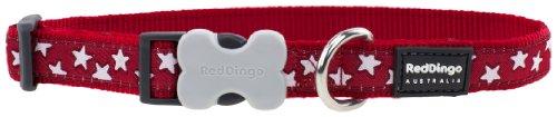 Red Dingo Hundehalsband, gemustert, Größe L, 2,5cm/ 41x64 cm, Rot/Weiß (Weiß Halsband Rot Blau)