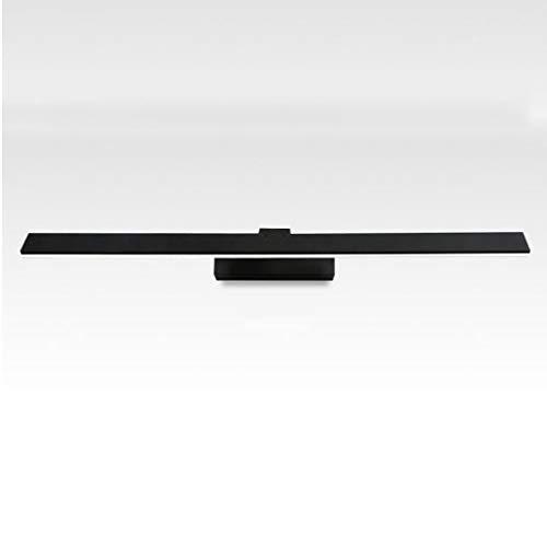GWFVA LED Wasserdicht Anti-Fog Acryl Back Finish Eisen Spiegel Licht Badezimmerspiegel Schrank Lichter (Farbe: Schwarz-a (6,5 cm) -10w62 cm) -