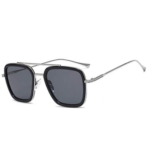 Asolym Trendbox Europa und Amerika Sonnenbrillen Herren und Damen Klassische Outdoor Sport Sonnenbrillen Unisex UV400 Reisebrillen Herren und Damen Sonnenbrillen,L
