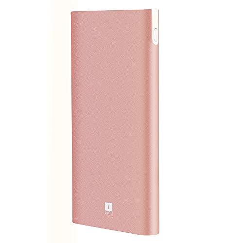 iBall 10000mAh Li-Polymer Slim Design Smart Charge Metal Powerbank- LPM10000 (Rose Gold)