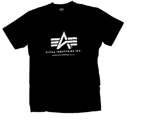 Alpha Industries Basic Logo T-Shirt Logo Shirt Black