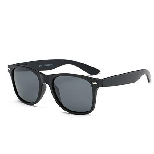 ZYZH Polarisierte Sonnenbrille Frauen Männer Kinder Damen Unisex UV400 Schutz Blendschutz mit Fall Retro Mode Übergroße Sonnenbrille für Sport Fahren Angeln Skifahren Schwarz Grau