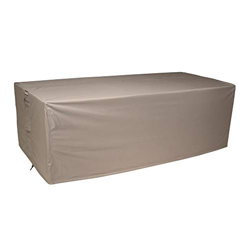 Raffles Covers NW-RLB220straight Hülle für Rattan Lounge Bank 220 x 100 H: 75 cm Loungesofa Abdeckung, Schutzhülle für Gartensofa, Wetterschutz für Rattan Garten Lounge