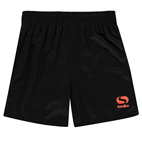 Sondico Core FB Kinder Jungen Fussball Shorts Sport Training Sporthose Kurze Schwarz/Fluorange M