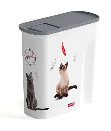 Curver Vorratsdose für Katzen, 6 l, Weiß, 28 x 12 x 28 cm