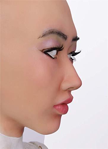 Maske Weibliche Latexmaske Cosplay Sexy Kostüm Frau Gesicht Verkleiden Sich (Sexy Verkleiden Kostüm)