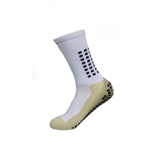 Unisex Sportsocken Transer® Baumwolle Premium Anti-Rutsch Fußball Fußball Sport Socken (Weiß) (Dunkelblau-fußball-socken)