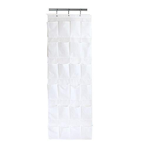 24 Tasche Schuh Schranktür Wand hängen Aufbewahrungstasche saubere Garderobe Home Schlafzimmer Raum Festival Caddy Lagerregal Regal Rack Home Garderobe Zubehör (Color : White) -