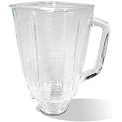 Oster - 004954-011090-I - Récipient en Verre avec Couvercle pour Mixeur Plongeant - Noir 1.25 L (5 tasses)
