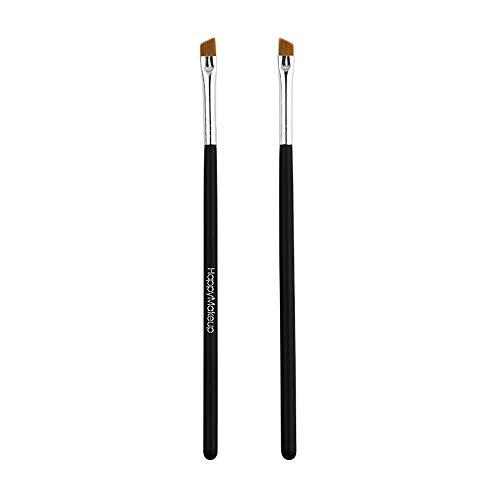 Kapian Augenbrauenpinsel Set - 2 Make Up Augenpinsel - Beauty Makeup Pinsel Set zum Auftragen von Lidschatten, Pomade, Eyeliner, Gel, Wax, Puder und Kosmetik für Perfekte Wimpern und Augenbrauen