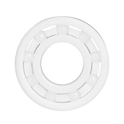 Akozon 6900 Roulement à Billes 10 x 22 x 6mm Billes de Roulement Blanc en Céramique de Dioxyde de Zirconium Pleine de Haute Précision