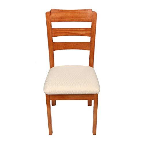 Koiyoi 2/4/6 pezzi copri sedia da pranzo elasticizzato da cucina coprisedile jacquard spandex custodia protettiva per sedilecoprisedile per soggiorno, bianco crema, 4 pezzi