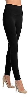 Koroshni Women's Cotton Lycra Hot Leggings (Gs_Winter_Legging_Black_Free Size)