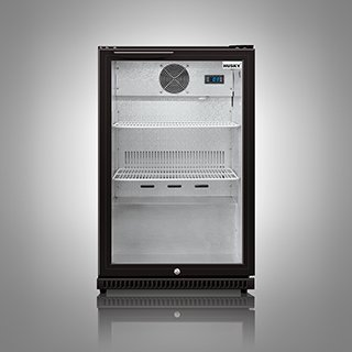 Husky Commercial Single Door Display Fridge, Undercounter, Back Bar Bottle Chiller, Hinged door, 133L Capacity, HUS-C1HY