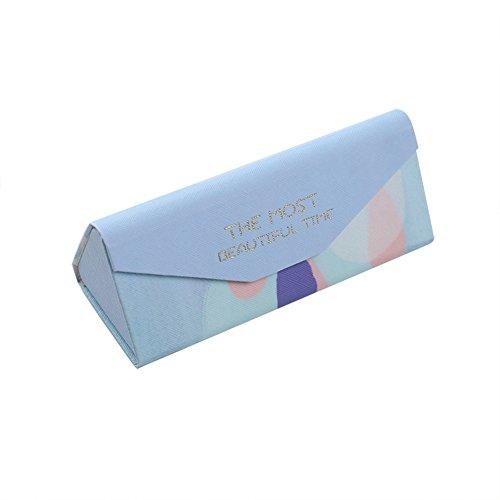 Kentop Brillenetui faltbar einfache Aufbewahrungsbox Sonnenbrille 16 * 7 * 1.5 cm D