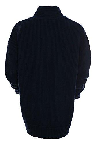 Kitaro Pullover Herren Langarm Baumwolle Wolle Plusgröße Übergröße Dunkelblau