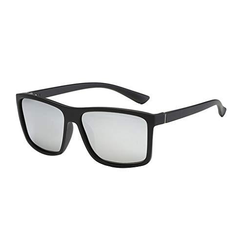 LCLrute Sonnenbrillen,Männer polarisierten Sonnenbrillen Klassische Box Sonnenbrillen Sonnenbrillen für Männer Verspiegelt UV-Schutz