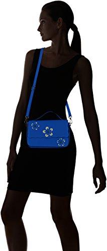 Blau Blue cm Henkeltasche Damen Borse 1543 25x16x7 Chicca w60YqxS