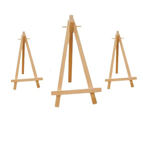 Tischkartenständer/Kartenhalter aus Holz, wie ein Mini-Stativ, Größe ca. 15 cm