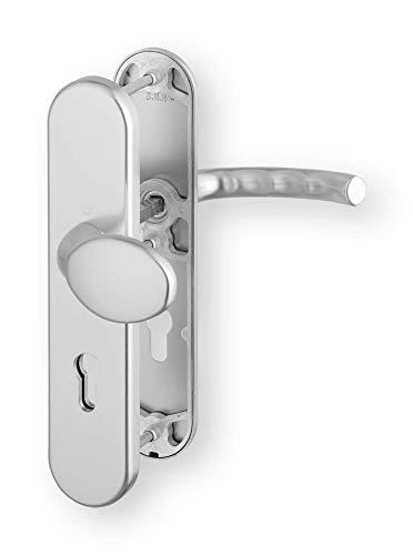 1710 Drucker (HOPPE Aluminium Schutz LangschildWechsel Garnitur für Außen/Wohnungsabschluss Türen 72 mm, natur ,76G/3331/3410/1710)