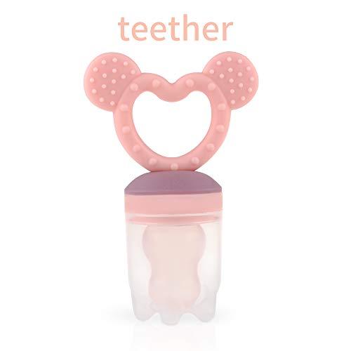 ZOSHING Comedero de Bebé/Food FeederChupetes y MordedoresAlimentos para BebéChupete Juguetes de Dentición para100% silicona sin BPA