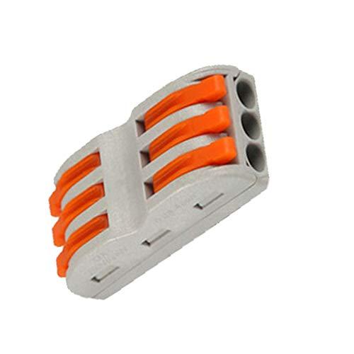 Lorsoul 30PCS / Set Accessoires Connexion Câble Bornier 6 Connecteur Câblage Fil conducteur Universel Compact Pin