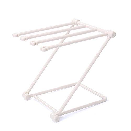 Handtuchständer luluhut serviettenhalter faltbarer vertikaler tuch küchentuchhalter faltbarer lagerregal bonbonfarben becher flaschenhalter @ beige -