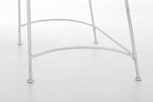 CLP Eisen-Gartenbank ADELE im Landhausstil, aus lackiertem Metall, 107 x 54 cm Antik Weiß - 8