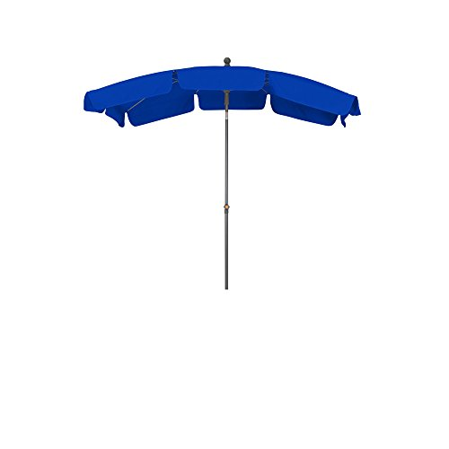 Siena garden 338166 tropico ombrellone alluminio della base/poliestere blu/antracite 210 x 140 cm