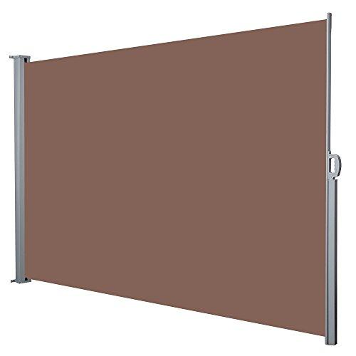 Jalano Seitenmarkise Windschutz Seitenrollo Balkon 200x300cm Farbe:braun