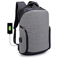 BaBaSM Praktisch Anti-Diebstahl-Rucksack mit USB-Ladeanschluss, 18L Anti-Diebstahl-Rucksack USB-Lade Laptop Reisetaschen