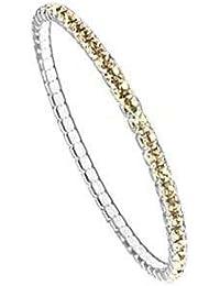 Stretch Armband für Mädchen, versilbert, nickelfrei, L 14,35cm, 1 Stk., Cry Gol Shad