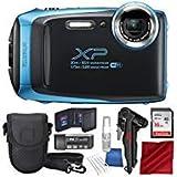 Fujifilm FinePix XP130 Waterproof & Shockproof Wi-Fi Digital Camera (Sky Blue) with 16GB Card