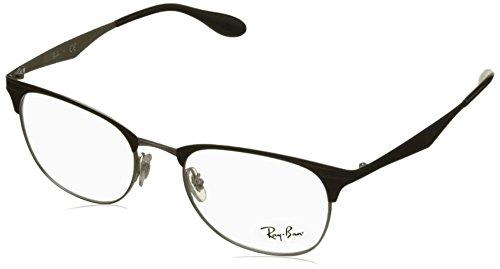 Rayban Unisex-Erwachsene Brillengestell RX6346, Schwarz (Top Black On Silver), 52