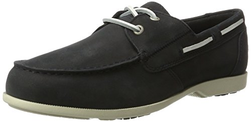 Rockport Summer Sea 2-Eye Boat Shoe, Chaussures Bateau Homme Blue (navy Nubuck)