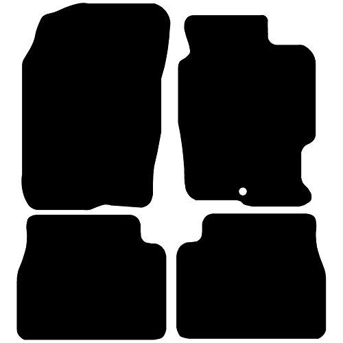 Connected Essentials 5005860, Tappetini Sonalizzati Realizzati su Misura, For Toyota Aygo (2005-2010), Deluxe, Nero (Black with Black Trim), 500g Carpet Thickness