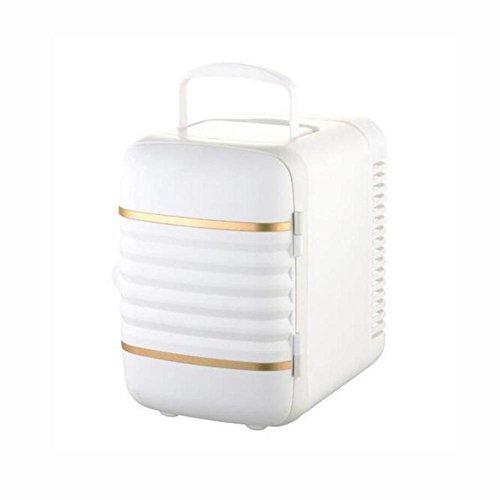 HuanLeBao thermoelektrische Kühlbox, 4 Liter, anschlussfertig für den PKW, 12-Volt, Kühlen und Heiz-Funktion, tragbarer Mini-Kühlschrank , White , 4l