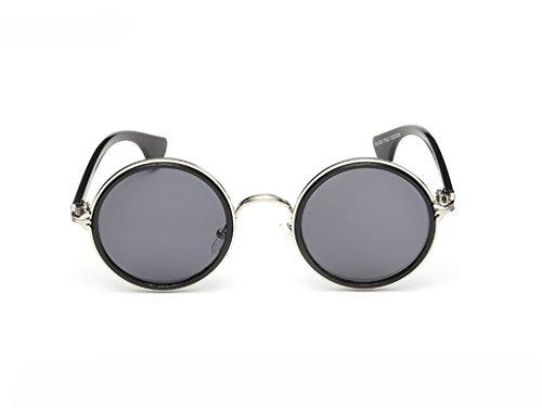 Ppy778 Polarisierte Sonnenbrille Unisex Classic Round Metal Frame Retro Sonnenbrille (Color : 2)