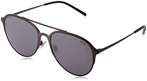 Polo Ralph Lauren Herren 0Ph3115 91576G 58 Sonnenbrille, Grau (Silver)