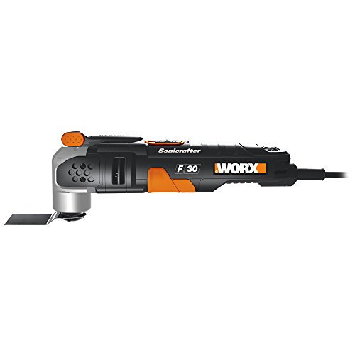 Side view - WORX WX680 F30 350W Sonicrafter Multi-Tool Oscillating Tool with 29 Accessories